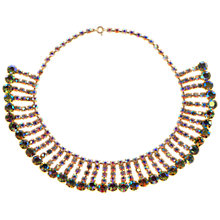 Buy Alice Joseph Vintage 1950s Aurora Borealis Row Collar Necklace, Green Online at johnlewis.com