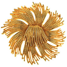Buy Alice Joseph Vintage 1960s Cordelia by Monet Textured Spray Pin, Gold Online at johnlewis.com