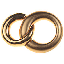 Buy Alice Joseph Vintage Monet Brushed Gilt Linked Ring Brooch, Gold Online at johnlewis.com