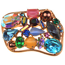 Buy Alice Joseph Vintage 1950s Mixed Diamante Glass Stone Brooch, Multi Online at johnlewis.com