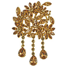 Buy Alice Joseph Vintage Austrian Diamante Statement Brooch, Topaz Online at johnlewis.com