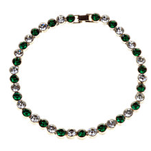 Buy Alice Joseph Vintage Round Diamante Collar Necklace, Green / White Online at johnlewis.com