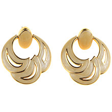 Buy Alice Joseph Vintage 1970s Napier Enamel Resin Crescent Stud Earrings, Gold Online at johnlewis.com