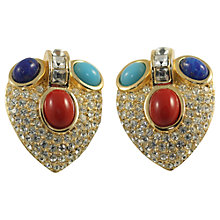 Buy Alice Joseph Vintage 1980s Grosse Cabochon Stone Clip-On Earrings, Multi Online at johnlewis.com