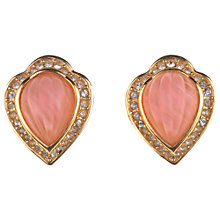 Buy Alice Joseph Vintage Grosse Glass Diamante Surround Clip-On Earrings, Pink Online at johnlewis.com