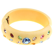 Buy Alice Joseph Vintage 1930s Celluloid and Diamante Hinged Bangle, Multi Online at johnlewis.com