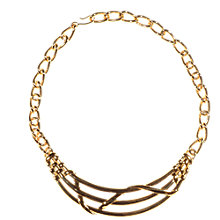 Buy Alice Joseph Vintage 1980s Monet Gilt Chain Link Necklace, Gold Online at johnlewis.com