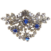 Buy Alice Joseph Vintage 1950s Multi Dimensional Diamante Brooch, Blue Online at johnlewis.com