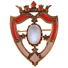 Buy Alice Joseph Vintage 1940s Enamel and Mother of Pearl Shield Brooch Online at johnlewis.com