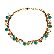 Buy Alice Joseph Vintage 1980s Trifari Pearl and Bead Gilt Necklace, Blue Online at johnlewis.com