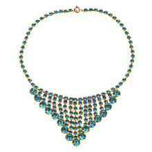 Buy Alice Joseph Vintage 1950s Diamante Collar Drop Necklace, Aqua Online at johnlewis.com