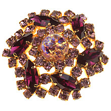Buy Alice Joseph Vintage 1960s Easter Egg Diamante Surround Brooch, Amethyst Online at johnlewis.com