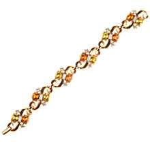Buy Alice Joseph Vintage Trifari Diamante Link Gilt Bracelet Online at johnlewis.com