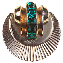 Buy Alice Joseph Vintage 1940s Coro Sunburst Diamante Pin, Green Online at johnlewis.com