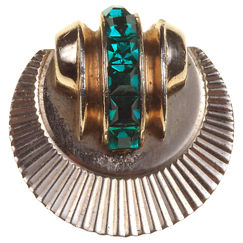 Buy Alice Joseph Vintage 1940s Ciro Sunburst Diamante Pin, Green Online at johnlewis.com