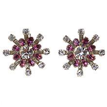 Buy Alice Joseph Vintage 1950s Diamante Star Clip-On Earrings, Pink / White Online at johnlewis.com