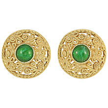 Buy Alice Joseph Vintage 1980s Grosse Gilt Filigree Glass Stone Clip-On Earrings, Green Online at johnlewis.com
