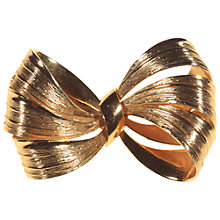 Buy Alice Joseph Vintage 1964 Grosse Bow Brooch, Gold Online at johnlewis.com