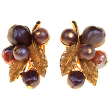 Buy Alice Joseph Vintage 1950s Art Autumn Berries Clip-On Earrings, Purple Online at johnlewis.com