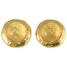 Buy Alice Joseph Vintage 1980s Yves Saint Laurent Acrylic Logo Gilt Clip-On Earrings Online at johnlewis.com