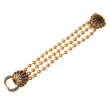 Buy Alice Joseph Vintage 1980s Pearl and Diamante Triple Row Bracelet Online at johnlewis.com