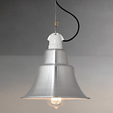 Buy Davey Lighting Zoe Factory Pendant, Aluminium Online at johnlewis.com