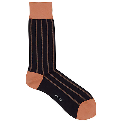 Buy Reiss Murnau Traditional Vertical Stripe Socks, One Size Online at johnlewis.com