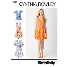 Buy Simplicity Cynthia Rowley Dresses Dressmaking Leaflet, 1872 Online at johnlewis.com