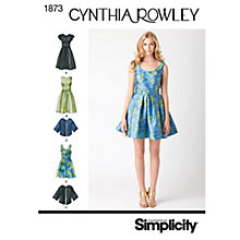 Buy Simplicity Cynthia Rowley Dresses Dressmaking Leaflet, 1873, H5 Online at johnlewis.com
