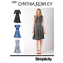 Buy Simplicity Cynthia Rowley Dresses Dressmaking Leaflet, 1802 Online at johnlewis.com