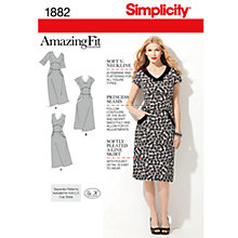 Buy Simplicity Amazing Fit Dresses Dressmaking Leaflet, 1882, H5 Online at johnlewis.com