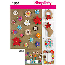 Buy Simplicity Craft Sewing Leaflet, 1601 Online at johnlewis.com