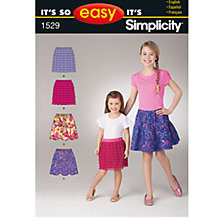 Buy Simplicity It's So Easy Children's Skirts Sewing Leaflet, 1529, A Online at johnlewis.com