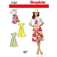 Buy Simplicity Dresses Dressmaking Leaflet, 1797 Online at johnlewis.com