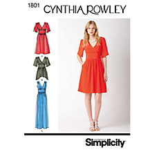 Buy Simplicity Cynthia Rowley Women's Dress Sewing Pattern, 1801 Online at johnlewis.com