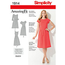 Buy Simplicity Amazing Fit Dresses Dressmaking Leaflet, 1914 Online at johnlewis.com