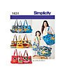 Simplicity Bags Sewing Pattern, 1631
