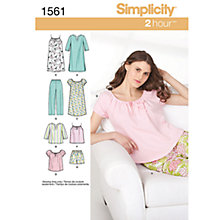 Buy Simplicity 2 Hour Nightwear Sewing Leaflet, 1561 Online at johnlewis.com