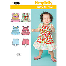 Buy Simplicity Easy to Sew Children Dressmaking Leaflet, 1669, A Online at johnlewis.com