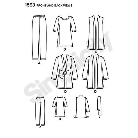 Buy Simplicity Womens' Coordinates Sewing Pattern, 1593