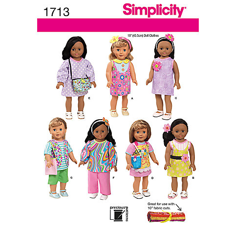 Buy Simplicity Craft Dressmaking Leaflet, 1713 Online at johnlewis.com