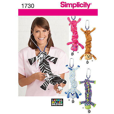 Buy Simplicity Stethoscope Covers Sewing Leaflet, 1730 Online at johnlewis.com