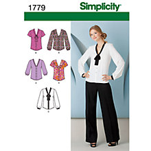 Buy Simplicity Tops Sewing Leaflet, 1779, H5 Online at johnlewis.com