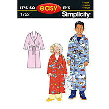 Buy Simplicity It's So Easy Child's Robe Sewing Leaflet, 1752, A Online at johnlewis.com