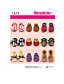 Simplicity Baby Shoes Sewing Leaflet, 1677, A