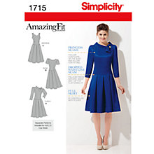 Buy Simplicity Amazing Fit Dresses Dressmaking Leaflet, 1715 Online at johnlewis.com