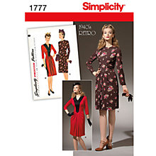 Buy Simplicity Dresses Dressmaking Leaflet, 1777 Online at johnlewis.com