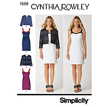 Buy Simplicity Cynthia Rowley Dresses Dressmaking Leaflet, 1688, H5 Online at johnlewis.com