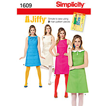 Buy Simplicity Jiffy Dresses Dressmaking Leaflet, 1609 Online at johnlewis.com