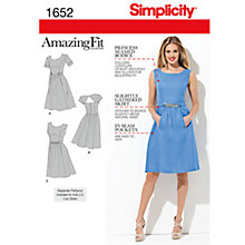 Buy Simplicity Amazing Fit Dresses Dressmaking Leaflet, 1652 Online at johnlewis.com